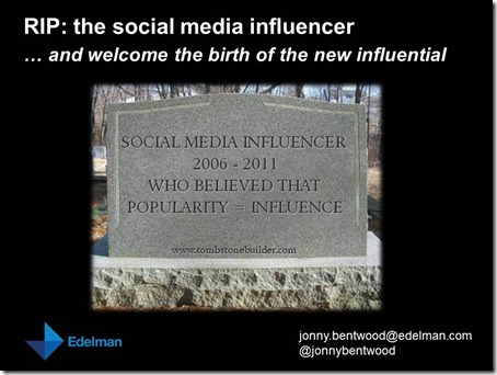 BrightTalk - RIP the social media influencer