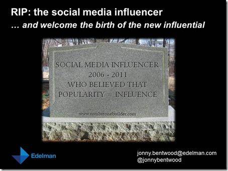 BrightTalk - RIP the social media influencer